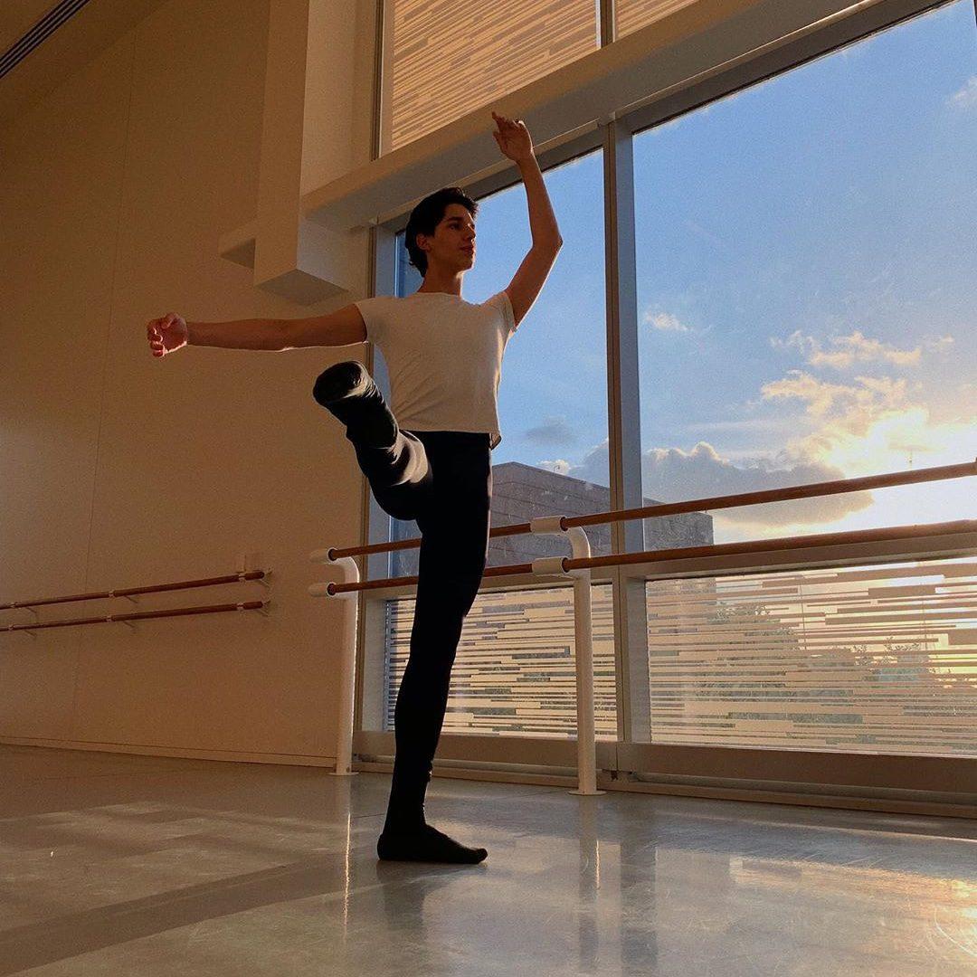 Alejandro Prieto - a ballet dancer at Houston Ballet Academy