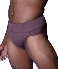 Brown full seat dance belt