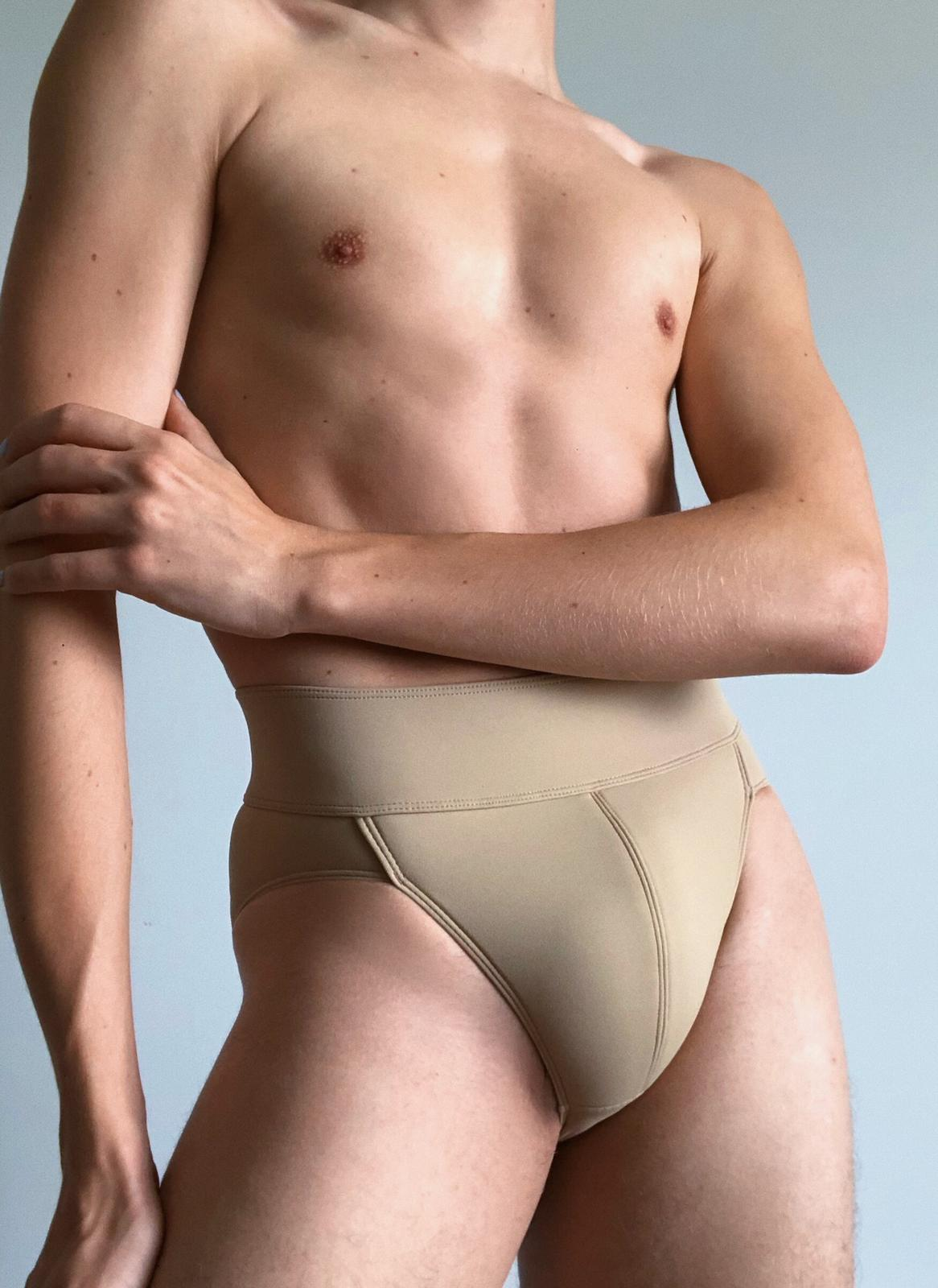 Full Seat Dance Belt New Product Brown And Beige Available